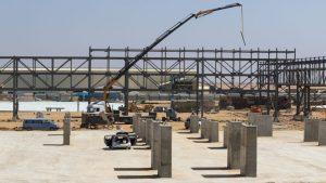 עבודות הקמת גשרי הצנרת