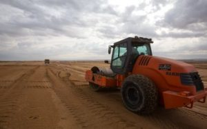 חפירה, מילוי והידוק פני השטח